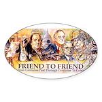 Friend to Friend Oval Sticker (10 pk)