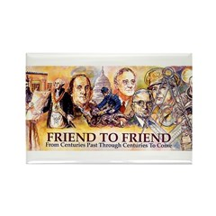 Friend to Friend Rectangle Magnet (10 pack)