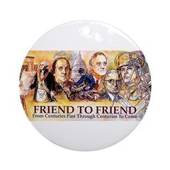 Friend to Friend Ornament (Round)