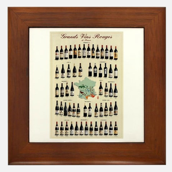 Carte des Vins Framed Tile