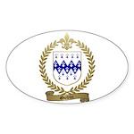 GODIN Family Crest Oval Sticker