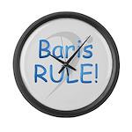 Baris RULE! Large Wall Clock
