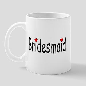 Bridesmaid (RD HRT) Mug