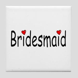 Bridesmaid (RD HRT) Tile Coaster