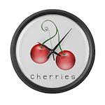 cherries Large Wall Clock