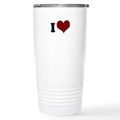 i heart Stainless Steel Travel Mug