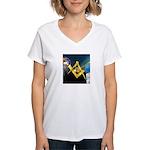 Between the Pillars Women's V-Neck T-Shirt