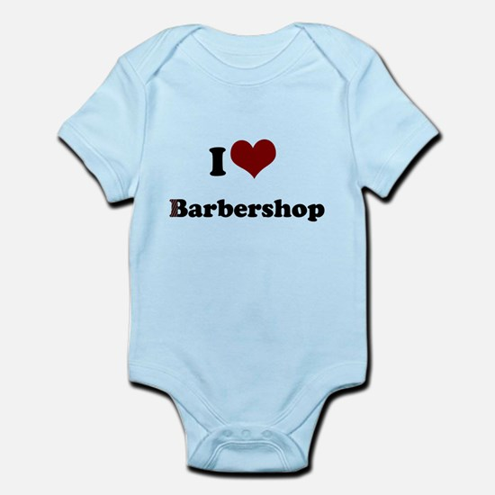 i heart barbershop Infant Bodysuit