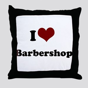 i heart barbershop Throw Pillow