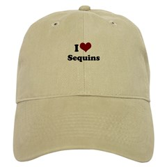i heart sequins Baseball Cap