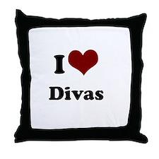 i heart divas Throw Pillow