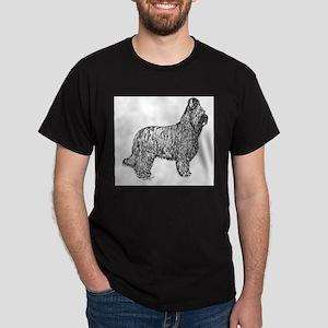 Alert Briard Dark T-Shirt
