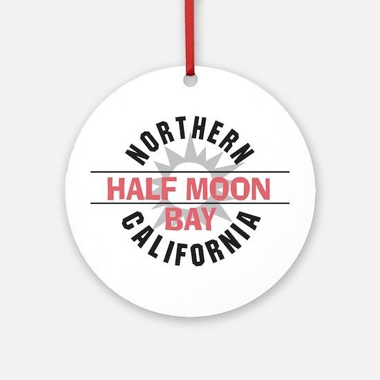 Half Moon Bay California Ornament (Round)