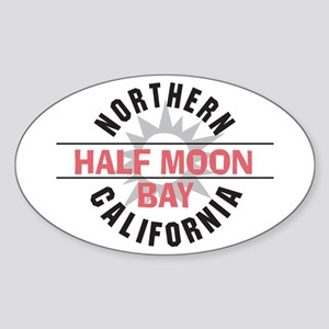 Half Moon Bay California Oval Sticker