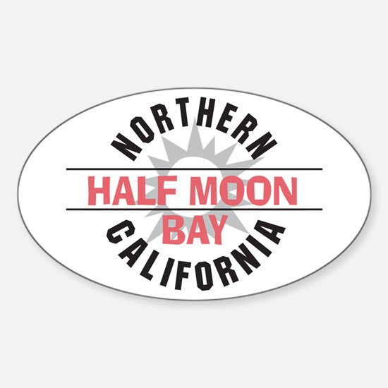 Half Moon Bay California Oval Decal