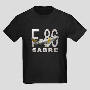 F-86 SABRE FIGHTER Kids Dark T-Shirt