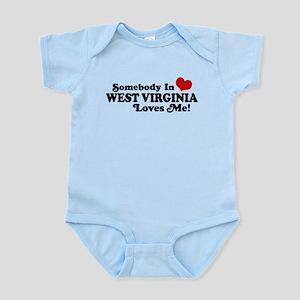 Somebody in West Virginia Loves me Infant Bodysuit
