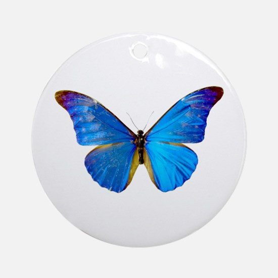 Blue Butterfly Keepsake (Round)