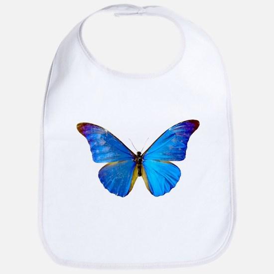 Blue Butterfly Bib
