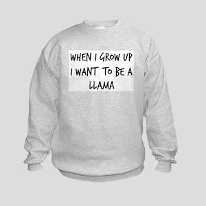 Grow up - Llama Kids Sweatshirt