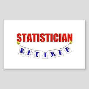 Retired Statistician Rectangle Sticker