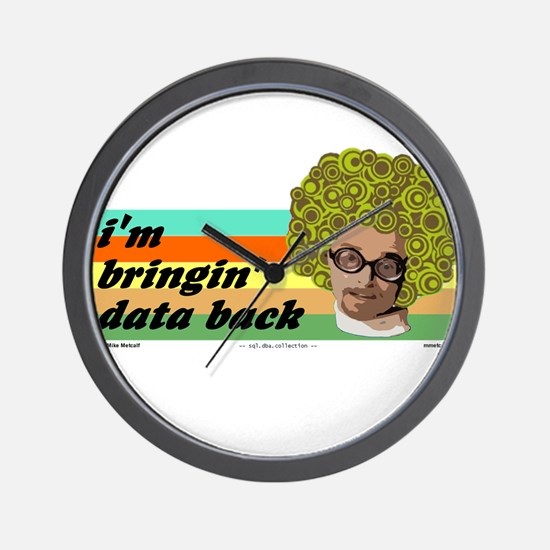 data back Wall Clock