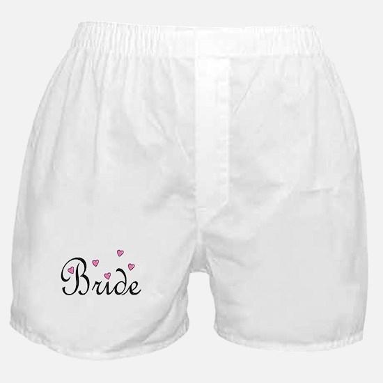Bride (Pink Hearts) Boxer Shorts
