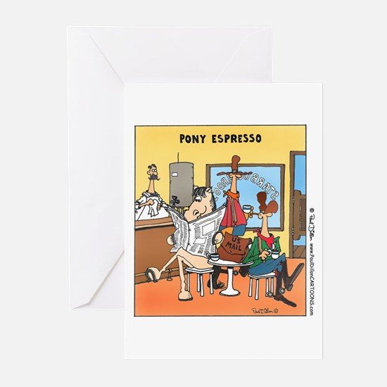 """Pony Espresso"" Blank Greeting Cards (pkg. of 6)"