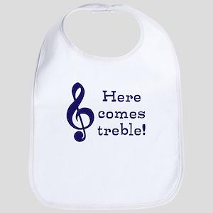 Here comes treble! Baby Bib