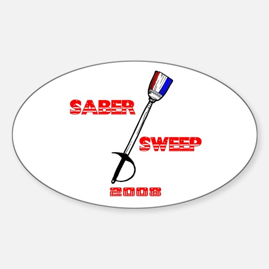 Saber Sweep 2008 Oval Decal