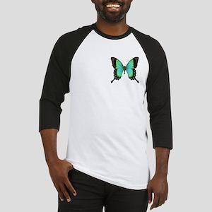 Green Butterfly Baseball Jersey