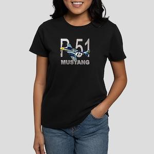 P-51 MUSTANG Women's Dark T-Shirt