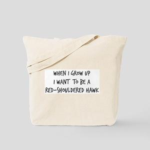 Grow up - Red-Shouldered Hawk Tote Bag
