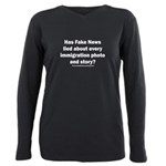 Immigration Liars Plus Size Long Sleeve Tee