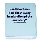 Immigration Liars baby blanket
