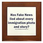 Immigration Liars Framed Tile