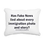 Immigration Liars Rectangular Canvas Pillow