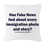 Immigration Liars Woven Throw Pillow