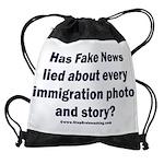 Immigration Liars Drawstring Bag