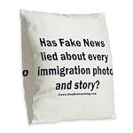 Immigration Liars Burlap Throw Pillow