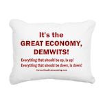 It's the GREAT ECONOMY, Rectangular Canvas Pillow