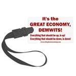 It's the GREAT ECONOMY, Demwits! Large Luggage Tag