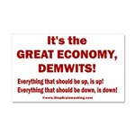 It's the GREAT ECONOMY, Demwits Car Magnet 20 x 12
