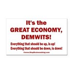 It's the GREAT ECONOMY, Demwi Rectangle Car Magnet
