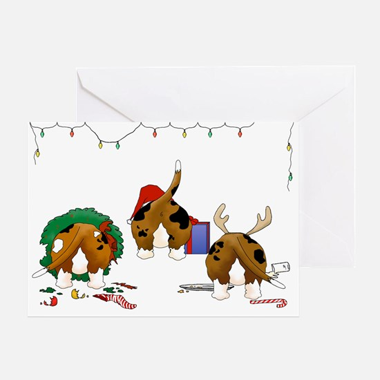 Basset Hound Christmas Greeting Card