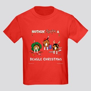Nothin' Butt A Beagle Xmas Kids Dark T-Shirt