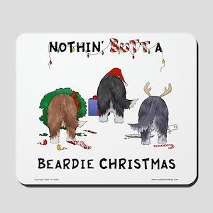 Nothin' Butt A Beardie Xmas Mousepad