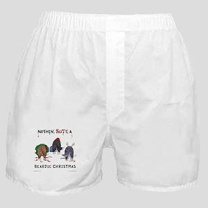 Nothin' Butt A Beardie Xmas Boxer Shorts