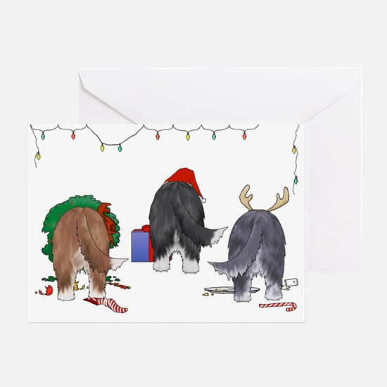 Bearded Collie Christmas Greeting Card