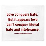 Liberal Hate Wins King Duvet